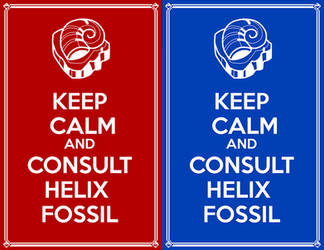 Keep Calm and Consult Helix Fossil by Devkyu
