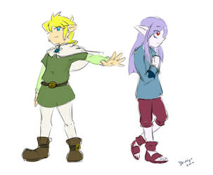 Memories of the Wind - Link and Vaati by Devkyu