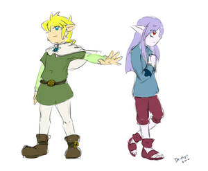 Memories of the Wind - Link and Vaati