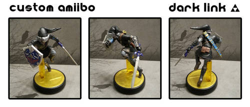 Custom Amiibo - Dark Link by Devkyu