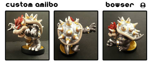 Custom Amiibo - Bowser by Devkyu