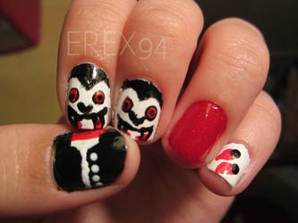 Count Dracula Nails for Halloween