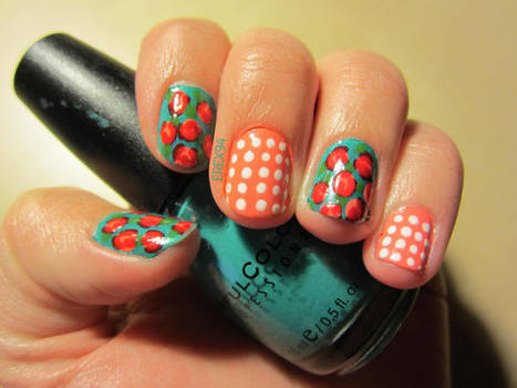 Vintage Roses and Dots