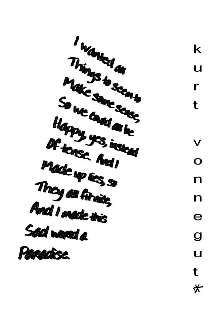 kurt vonnegut poster by Electro-cute-x