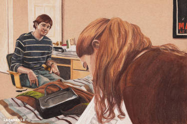 Home Office - Jim and Pam by Ladamania