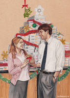 Secret Santa - Jim and Pam by Ladamania