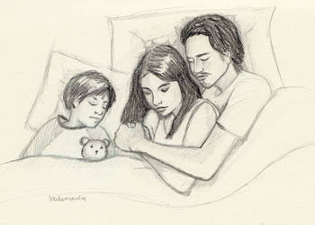 Maggie and Glenn - Family by Ladamania