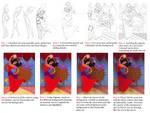 Step by step guide to Esmeralda by LisaGunnIllustration