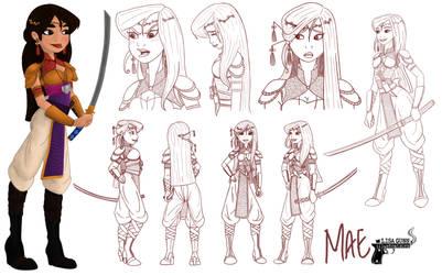 Mae ~ Contest 48 - Princess Design Sheet Challenge by LisaGunnIllustration