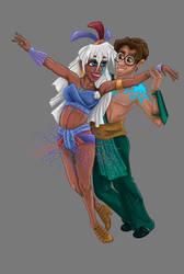 Strictly Come Disney: Samba (No Background) by LisaGunnIllustration