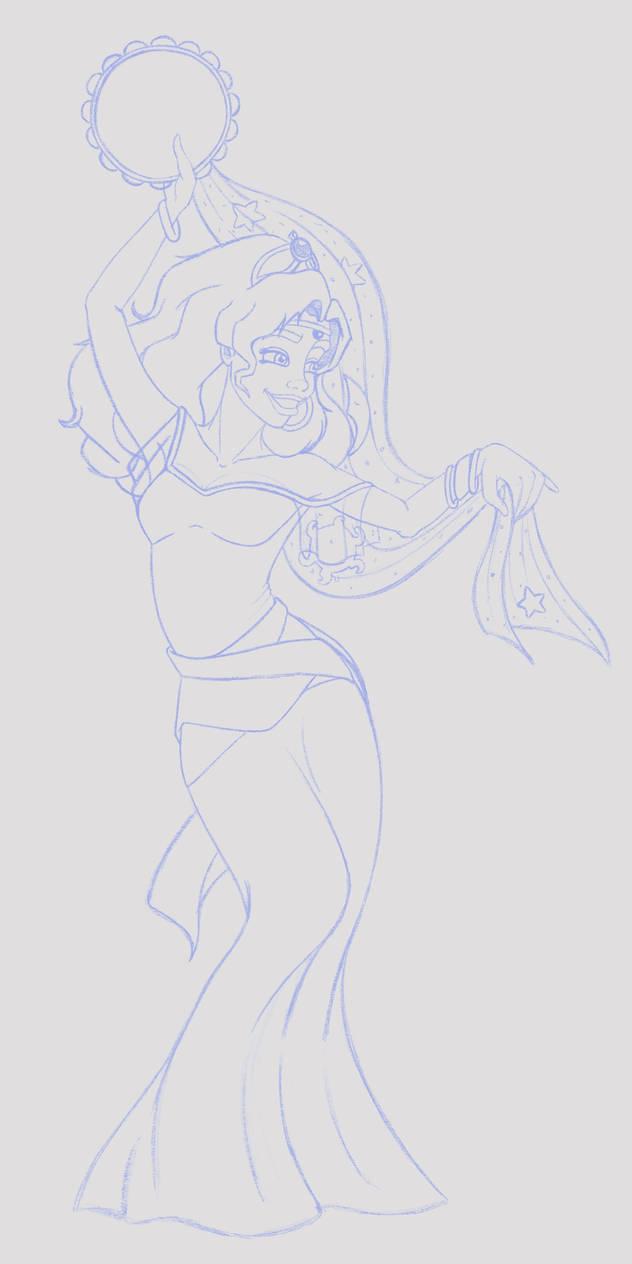 Esmeralda Final Line Art