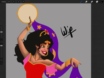 Esmeralda Work In Progress by LisaGunnIllustration