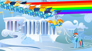 Flying Rainbows for Happy Rainbow Dash Day!!! by Thunderlime374