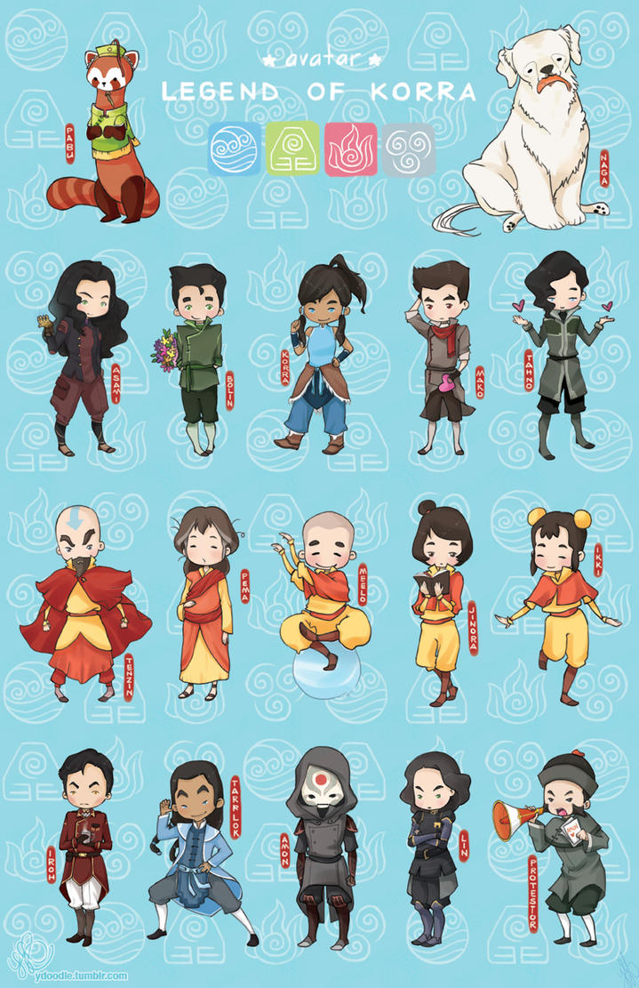 Korra Chibis by noodle-house