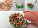 Watermelon fruit salad keychain