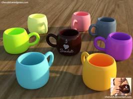 [Freebie] Chocolate Cups by Cherubit