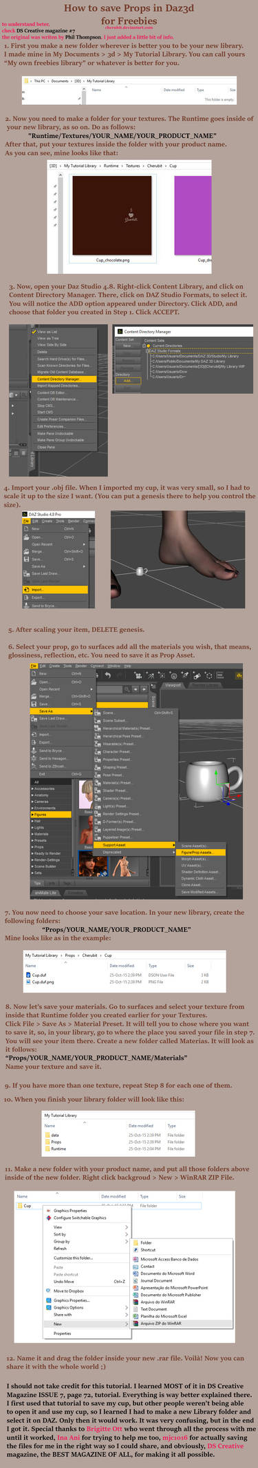 Tutorial: How to save Props in Daz3d for Freebies