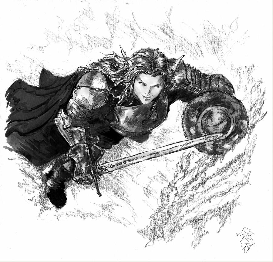 Warrior Woman by DonEmidioNavarroArts