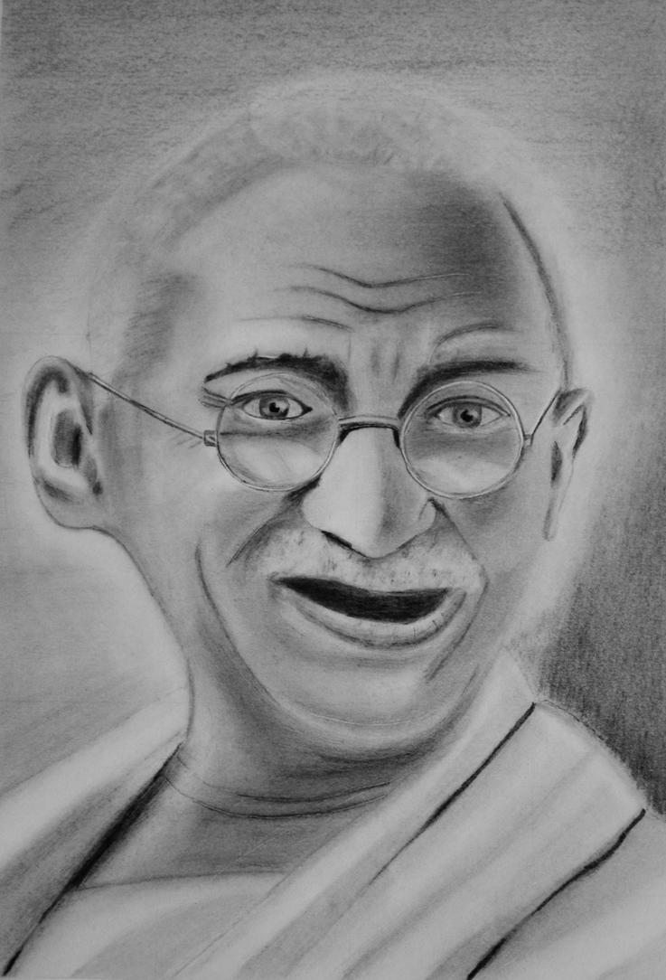 Gandhi by Only-Graphite
