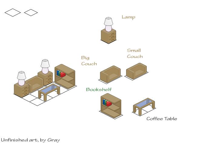 Pixel Art Furniture Set By Grayonice On Deviantart
