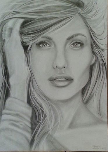 Angelina jolie matita e foglio by ARTBYTAMARA