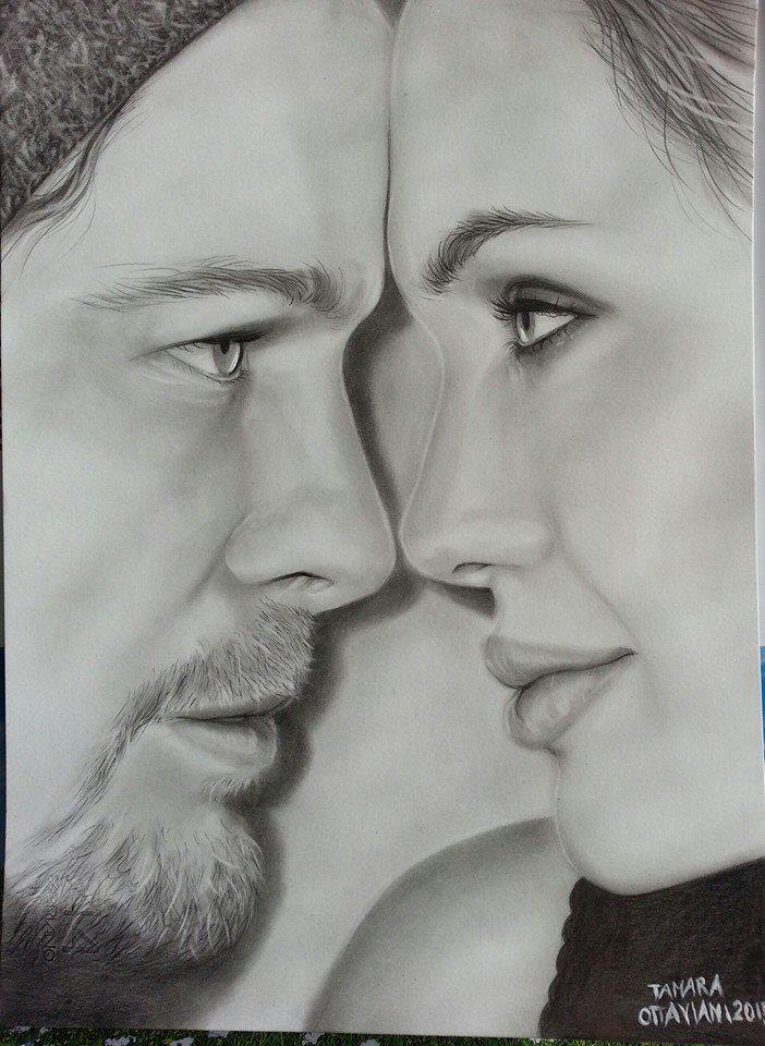 Brad Pitt e Angelina Jolie by ARTBYTAMARA