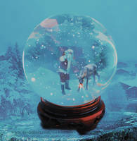 Santa Claus trapped in a glass ball. by Rockmenowa
