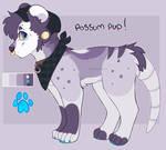 possum pup   open