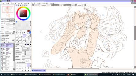 Sailor Rose Red WIP by cobi-cobi