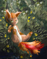 #37 Vulpix Pokemon by OwlVortex