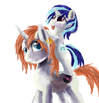 vinyl scratch and her dad or bother IDK