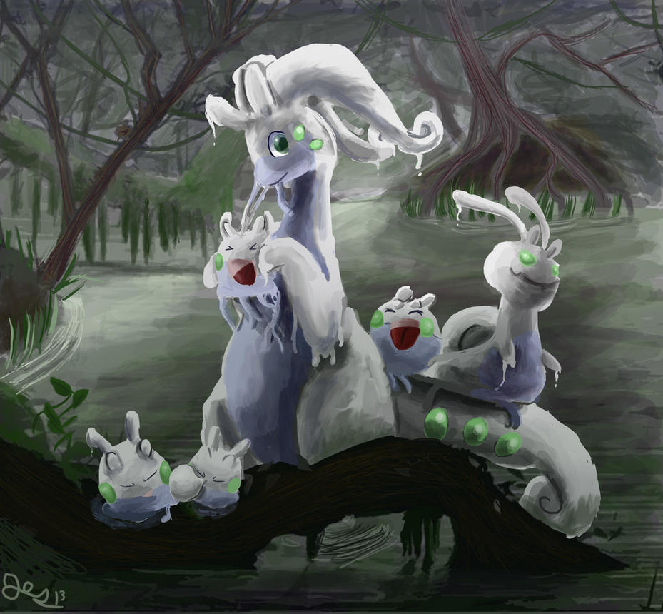 Goodra's Family by SuperRobotRainbowOwl
