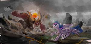twilight vs tirak by OwlVortex