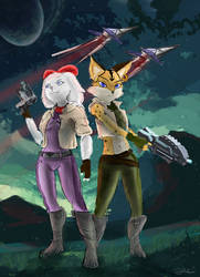 starfox 2 miyu and fay by OwlVortex