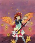 Sunset shimmer guitar