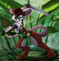 Mousefolk Warrior by OwlVortex
