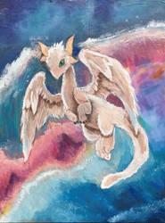 Kanna Kamui Dragon Form Oil Pastels