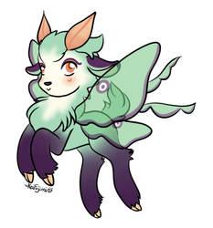 Luna Moth Goatling by keifujimi