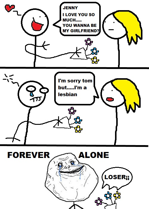 forever alone drawing by - photo #32