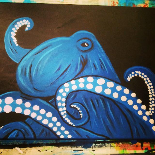 Blue Octopus by JadasArtVision