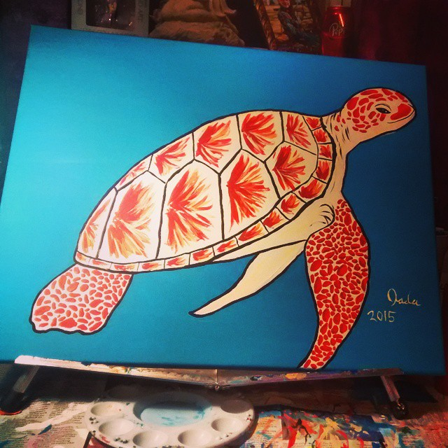 Yet another sea turtle by JadasArtVision