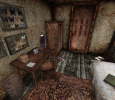 silent hill - Alessa's bedroom by Mageflower