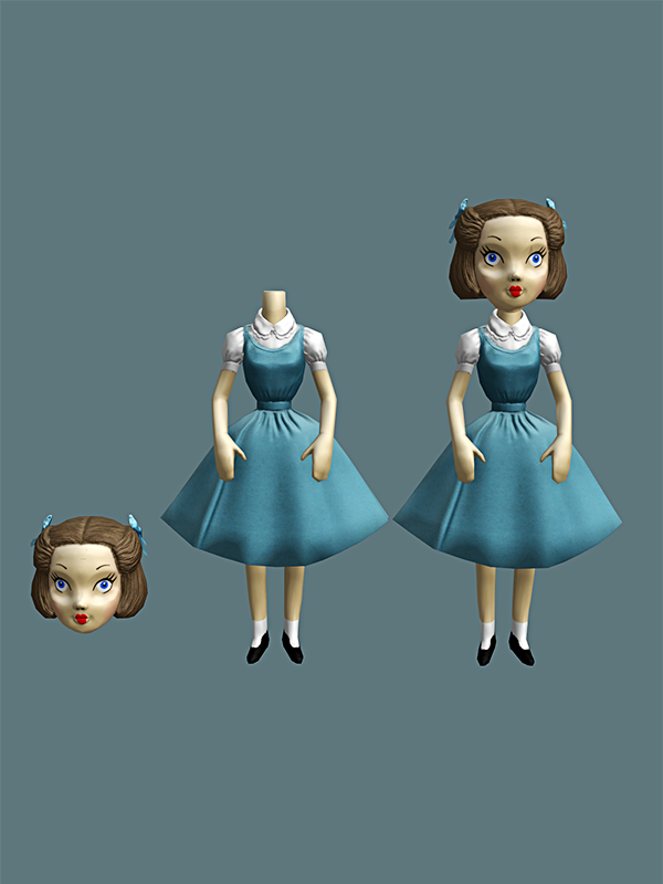 Bioshock Burial at Sea - Sally's doll by Mageflower
