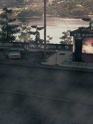 Silent Hill 2 - viewing platform by Mageflower