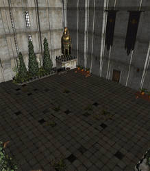 Dragon Age 2 - Gallows Hall Courtyard by Mageflower