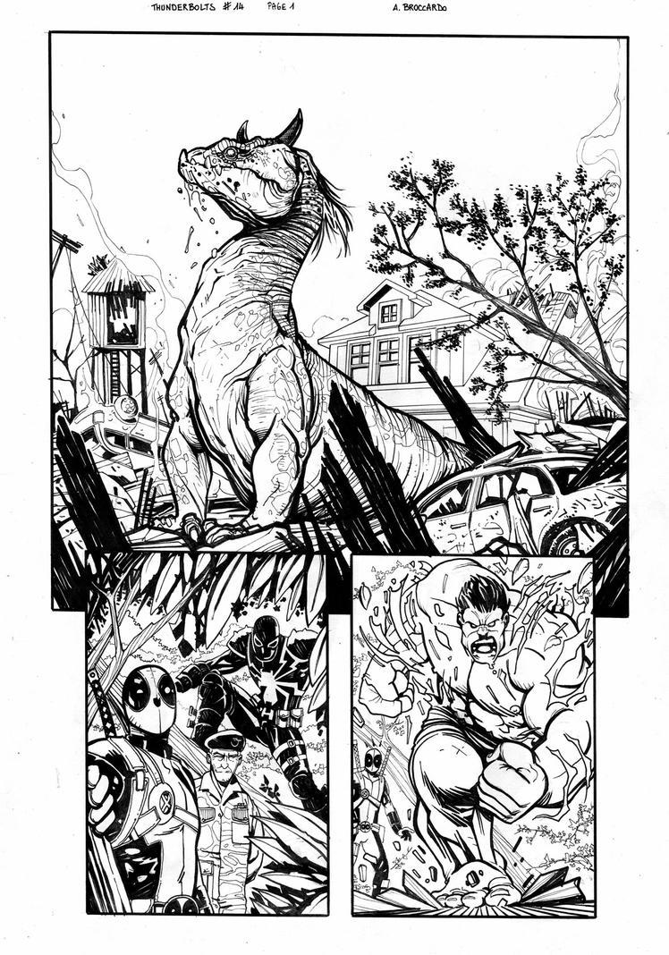 Thunderbolts #14 page 1 by andrearsandbabs