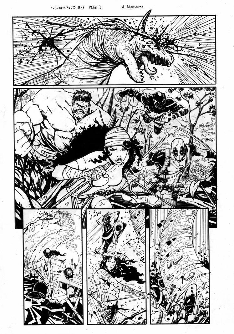 Thunderbolts #14 page 3 by andrearsandbabs