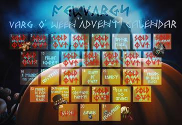 2021 Varg O' Ween Raff/Sale Advent Calendar - LIVE