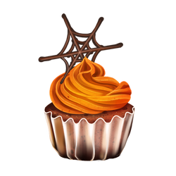 Pumpkin Frosted Cupcake