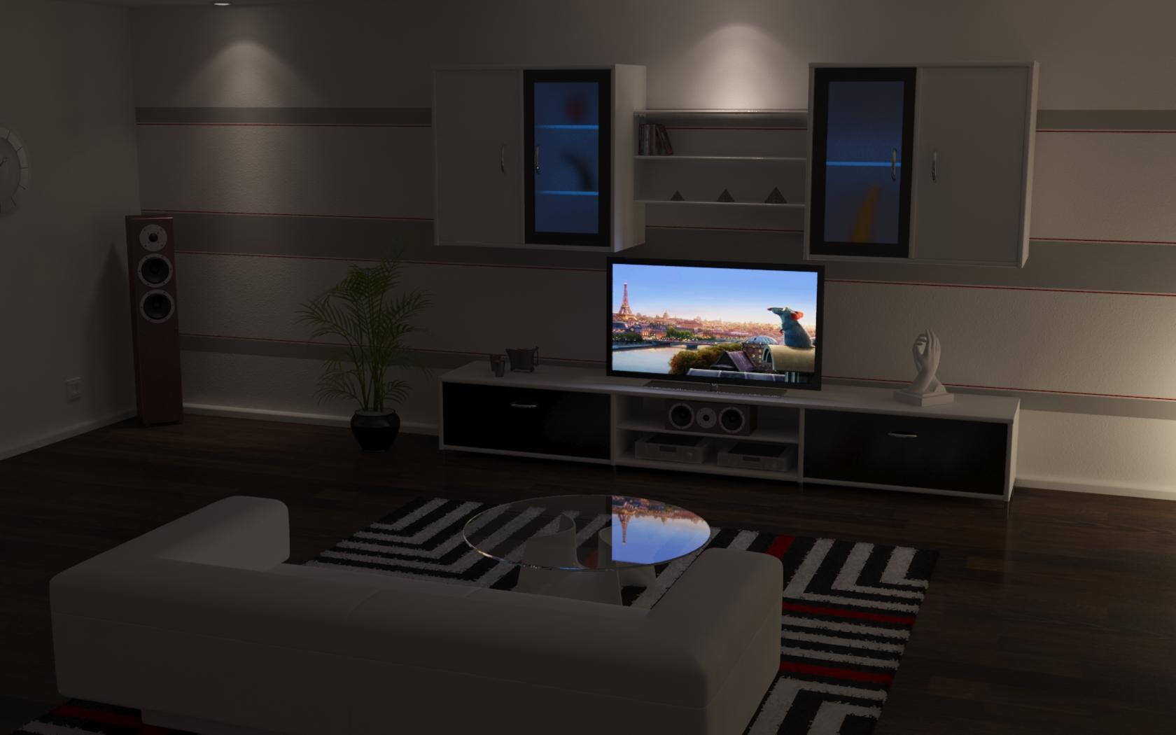 Living Room At Night By Maxter83 On DeviantArt